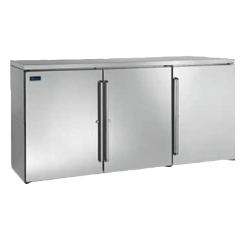 Pass-Thru Refrigerated Back Bar Cabinet two-section