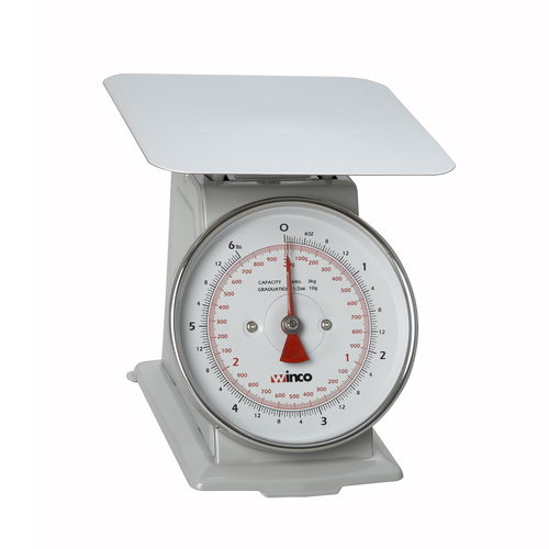 Winco SCAL-66 Dial Type Portion Scale, 6 lbs x 1/2 oz