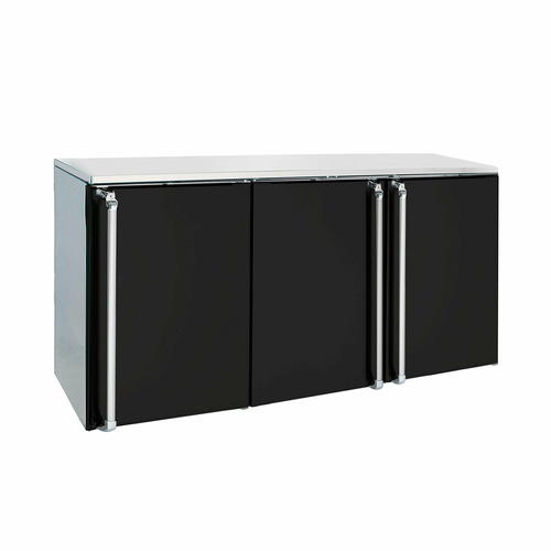 Remote Back Bar Storage Cabinet three-section