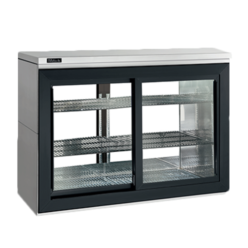 Pass-Thru Sliding Door Refrigerated Back Bar Cabinet two-section