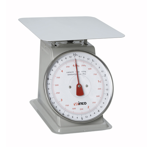 Winco SCAL-810 Dial Type Portion Scale, 10 lbs x 1 oz